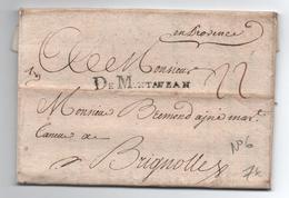 1750 - LETTRE De MONTAUBAN (TARN ET GARONNE) Avec MP LENAIN N°6 - Storia Postale
