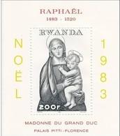 Rwanda 1983 OCBn° Bloc 97  Yvertn°  Bloc 98  *** MNH Cote 8,00 Euro Noël Christmas - 1980-89: Neufs