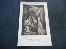 """Image Art Catholique """"VIERGE DE LA VISITATION Reims"""" - Décès Père BESLAY 1933 Au CHESNAY - Religion & Esotérisme"""