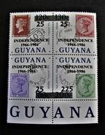 B2399 - Guyana - 1986 - Mich. 1592-1593-1594-1598 - MNH - Guyana (1966-...)
