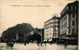 CPA Grenoble Place De La Gare, Les Hotels Et Le Neyron (685880) - Grenoble
