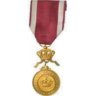 Belgique, Travail Et Progrès, Médaille, Excellent Quality, Gilt Bronze, 31 - Militari