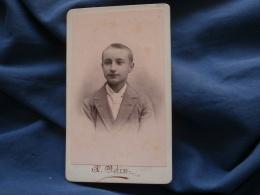 Photo CDV  Odin à Rive De Gier  Portrait Jeune Garçon Blond  Cheveux Très Courts - CA 1885 - L374 - Old (before 1900)