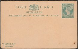 Postal Stationery, Halfpenny, Gibraltar, C.1880s - Pre-Paid Postcard - Gibraltar