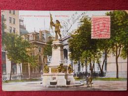CANADA / MONTREAL - MONUMENT MAISONNEUVE / 1910 - Montreal