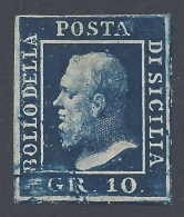 SICILIA 1859 10Gr INDACO Nº 12b - Sicilia