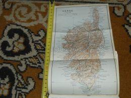 Corse Korsika Corsica France Map Karte Mappa 1930 - Geographical Maps