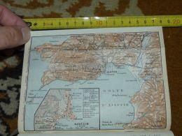 Ajaccio France Map Karte Mappa 1930 - Geographical Maps