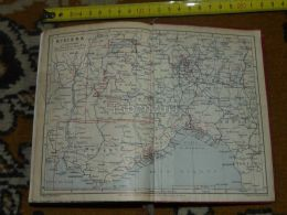 Riviera Marseille Genova Toulon Livorno Spezia Lyon Verona Bergamo Milano Annecy Italy France Map Karte Mappa 1930 - Geographical Maps