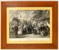 Barabás Miklós (1810-1898) - Amédée Charpentier: A Meny Megérkezése, Lithográfia, üvegezett Keretben, 66x88cm / Hungaria - Engravings