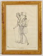 1834 A Sketch Of The Downshire Hills, Litográfia, Alkotó: John ('HB') Doyle Nyomda: By Ducôte & Stephens, Kiadó:  Thomas - Engravings