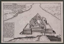Cca 1704 Id. Gabriel Bodenehr (1664/1673-1758/1765): Comorra Oder Comarinum, A Komáromi Er?d Látképe, Rézmetszet, Papír, - Engravings