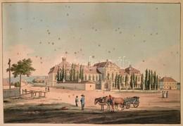 Cca 1800 Presburg / Pozsony, Grassalkovich Antal Palotájának Színezett Rézmetszet? Látképe. Wien, Ca 1800, Artaria. Folt - Engravings