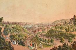 1830 Prága Látképe. Rézmetszet, Aquatinta. 'Nord - Ansicht Von Prag Aus Dem Volksgarten' A Malerische Darstellung Von Pr - Engravings