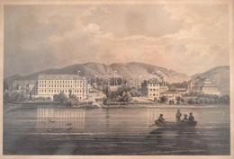 Cca 1860 Ludwig Rohbock (1820-1883) - Carl Rohrich (1823-1883): Füred A Balaton Fel?l. Balaton-Füred Vom Plattensee. Pes - Engravings