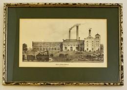 1863 Dréher Serf?zdéje K?bányán. Litográfia, Papír, üvegezett Keretben, Hajtás Nyommal, 17×32 Cm - Engravings