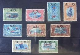 Ruanda Urundi - 36/44 - Red Cross - 1918 - MMH & MH - Ruanda-Urundi