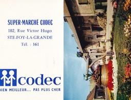PETIT CALENDRIER  SUPER- MARCHE  CODEC  STE FOY La GRANDE,,,6 X 9 Cm ,,,,TBE - Calendars