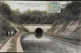 55 DEMANGE AUX EAUX  Le Tunnel Canal De La Marne Au Rhin  Colorisé - France