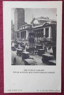 USA / NEW YORK CITY - THE PUBLIC LIBRARY / AUTOMOBILS / 1910-20 - New York City