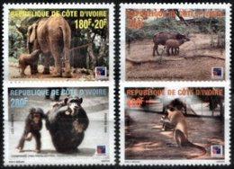 YVORY COAST, 1999, FAUNA, YV#1013-16, MNH - Ivory Coast (1960-...)