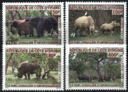 YVORY COAST, 2001, FAUNA, YV#1074-77, MNH - Ivory Coast (1960-...)