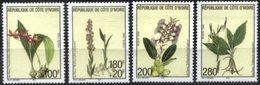 YVORY COAST, 1999, FLORA, FLOWERS, YV#1017-20, MNH - Ivory Coast (1960-...)