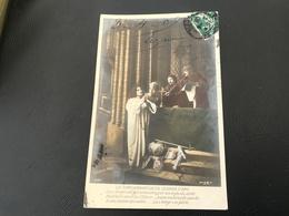 596 - LA CONDAMNATION DE JEANNE D'ARC La Vierge Est Prisonniere Par Un Injuste Arret Bedfort Croit La Fletrir... - Saints