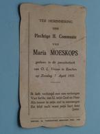 Maria MOESKOPS Op 7 April 1935 - O.L.Vrouw Te ESSCHEN  ( Zie/voir Photo ) ! - Communion
