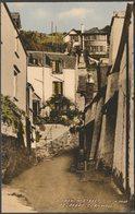 A Narrow Street, Polperro, Cornwall, C.1950s - Valentine's Postcard - England