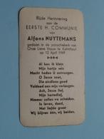 Alfons NUYTEMANS Op 12 April 1949 - O.L.Vrouw Te KALMTHOUT ( Zie/voir Photo ) ! - Communion