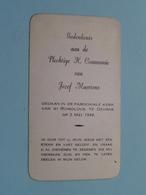 Jozef MAERTENS Op 2 Mei 1948 - St. Rumoldus Te DEURNE ( Zie/voir Photo ) ! - Communion