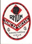 Etiquette Rhum Sancta Luccia - Grand Arôme Vieux - - Rhum