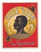 Etiquette Rhum Vieux Supérieur - Imprimeur Plouviez - Vers 1930 - - Rhum