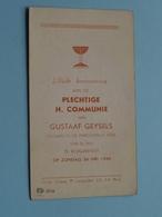 Gustaaf GEYSELS Op 26 Mei 1946 - St. Jan Te BORGERHOUT ( Zie/voir Photo ) ! - Communion