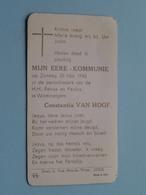 Mijn EERE - KOMMUNIE Constantia VAN HOOF Op 30 Mei 1943 - H.H. Petrus En Paulus Te WOMMELGEM ( Zie/voir Photo ) ! - Communion