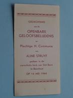 Aline STRUYF Op 14 Mei 1944 - St. Bavo Te BOECHOUT ( Zie/voir Photo ) ! - Communion