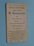 Jean NICOLAES Op 24 Juni 1943 - Parochiekerk OOSTEEKLOO ( Zie/voir Photo ) ! - Communion