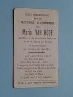 Maria VAN HOOF Op 18 Mei 1941 - H.H. Petrus En Paulus Te WOMMELGEM ( Zie/voir Photo ) ! - Communion
