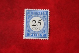 Postage Due Stamp Timbre-taxe Portmarke Selloe De Correos 25 Ct  NVPH PORT 26 P26 1894 Ongebruikt / MH  Nederland Nether - Taxes