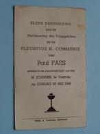 Paul FAES Op 26 Mei 1946 - H. Joannes Te VREMDE ( Zie/voir Photo ) ! - Communion