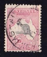 Australia 1932 Kangaroo 10/- Grey & Pink C Of A Watermark Used - - Used Stamps