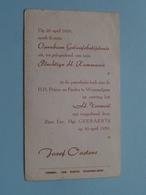 Jozef OOSTERS Op 30 April 1959 - H.H. Petrus En Paulus Te WOMMELGEM / Z.E.Mgr. Geeraerts ( Zie/voir Photo ) ! - Communion