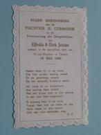 Elfrida En Dirk JOTTIER Op 19 Mei 1963 - St. Jan Baptist Te TISSELT ( Zie/voir Photo ) ! - Communion