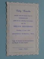 Eddy BROECKX Op 12 Mei 1963 - St. Martinus RETIE ( Zie/voir Photo ) ! - Communion