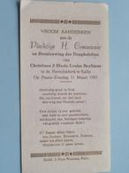 Christiane & Marie-Louise BEYLTJENS Op 11 Maart 1951 - Parochiekerk KALLO ( Zie/voir Photo ) ! - Communion