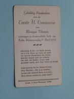 Monique TILLEMAN Op 6 April 1952 - Parochiekerk KALLO ( Zie/voir Photo ) ! - Communion