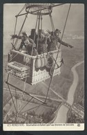 +++ CPA - Aviation - Montgolfière - LES AEROSTIERS - Observation En Ballon Captif Environs Soissons - Illustrateur ?  // - Fesselballons