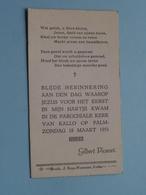 Gilbert PICAVET Op 18 Maart 1951 - Parochiekerk Van KALLO ( Zie/voir Photo ) ! - Communion