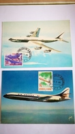 Carte Postale D'avions Et Cachet De Saint Marin + Avion - Vatican